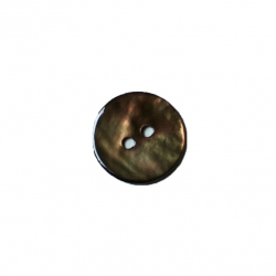 Bouton nacre 15 mm bronze
