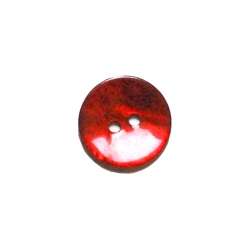 Bouton nacre 15 mm rouge